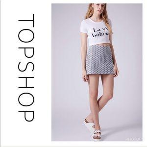 Topshop Gingham Pelmet Mini Skirt